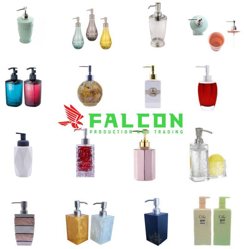 Bình đựng dung dịch dầu gội sữa tắm khách sạn cao cấp Falcon