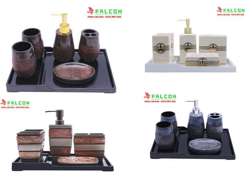Công ty Falcon chuyên cung cấp các bộ đồ resin trong phòng tắm khách sạn, resort cao cấp
