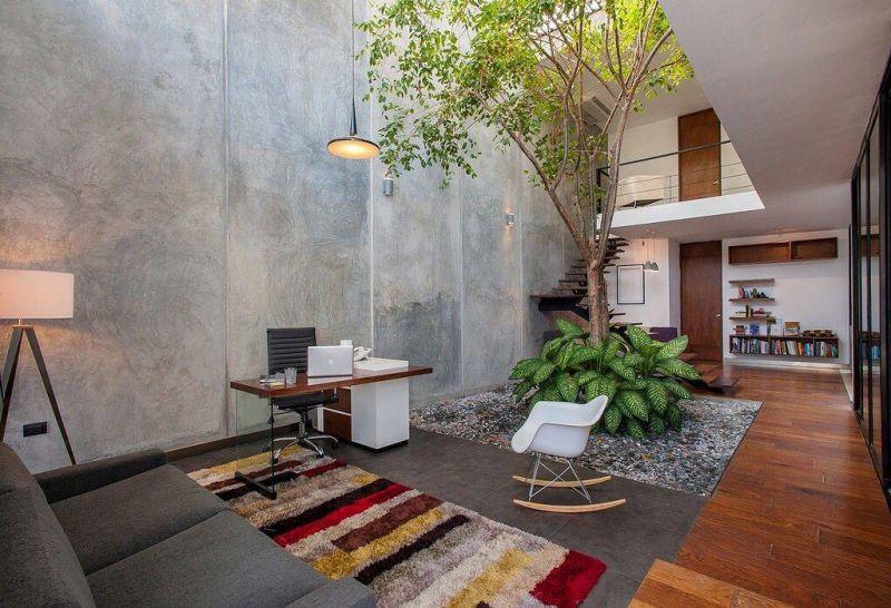 Xây dựng giếng trời giúp nâng cao tính thẩm mỹ cho không gian của khách sạn